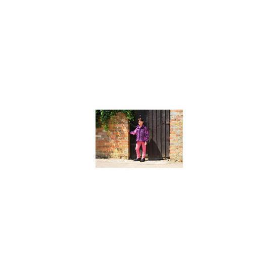 Tesco Girls 3 in 1 Waterproof Riding Jacket age 7-8 years Purple / Hot Pink Trim