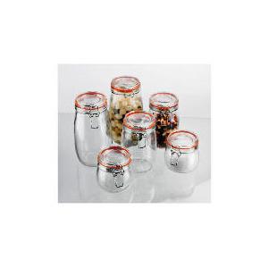 Photo of Tesco Clip Jar 6 Piece Storage Set Kitchen Accessory