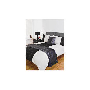 Photo of Bedcrest Bed In A Bag Stitched Circles Black Double Bed Linen
