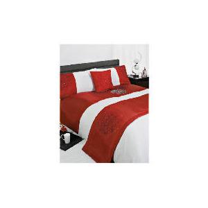 Photo of Bedcrest Bed In A Bag Bold Floral Red Kingsize Bed Linen