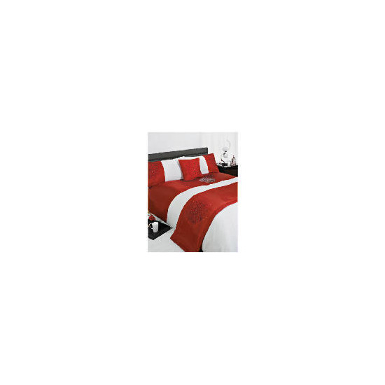 Bedcrest Bed In A Bag Bold Floral Red Kingsize