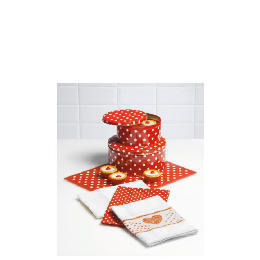 Tesco Red Spot Cake Tins, Work Surface protector & Tea towels Reviews