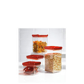 Tesco Red 4 piece Stackable Storage Set Reviews
