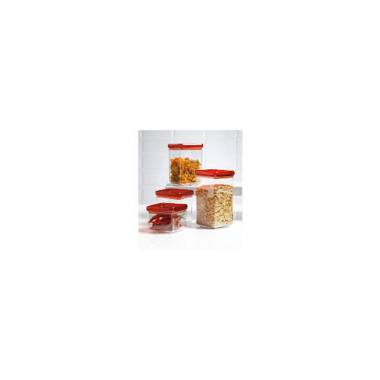 Tesco Red 4 piece Stackable Storage Set