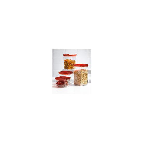 Tesco Red 4 piece Stackable Storage Set