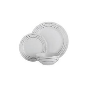 Photo of Regency Stripe 12 Piece Set Dinnerware