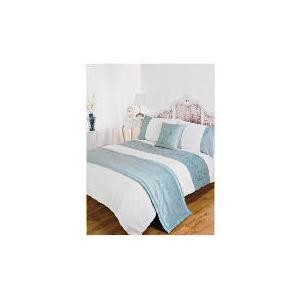 Photo of Bedcrest Bed In A Bag Rose Sequin Aqua Kingsize Bed Linen