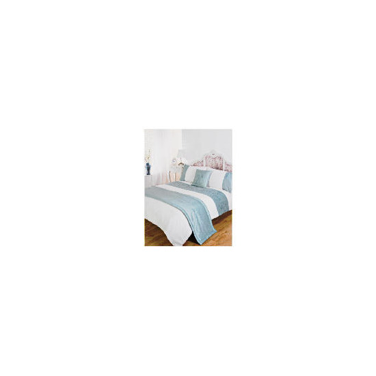 Bedcrest Bed In A Bag Rose Sequin Aqua Kingsize