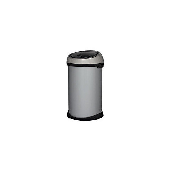 Brabantia 50L metallic grey touch bin