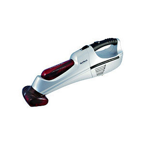 Photo of 12V Hand Held Vacuum Red and Silver Vacuum Cleaner