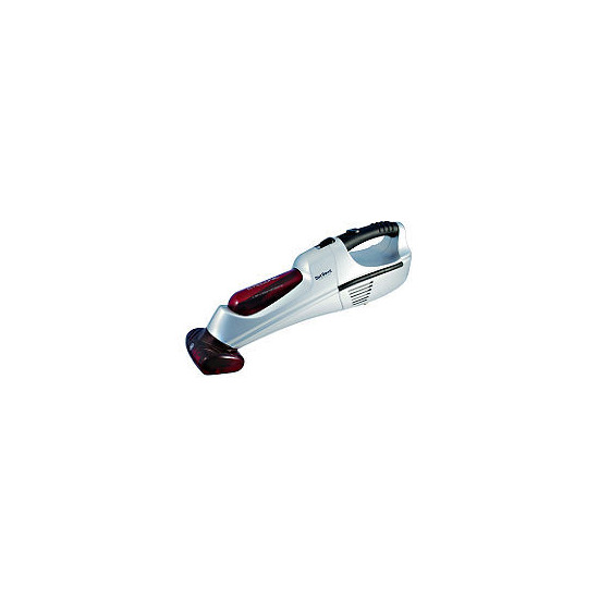 12V Hand Held Vacuum Red and Silver