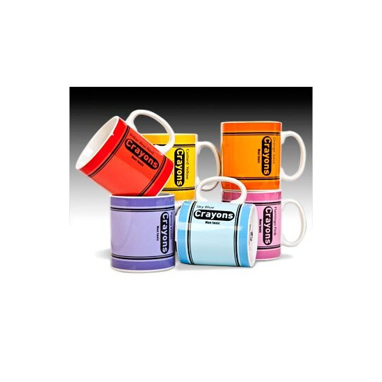 Crayons Mug- Pillar Box Red