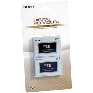 Photo of DVM63HDV-BT High Definition HDV / MINIDV Tape 63MIN (2 Pack) Camcorder Accessory