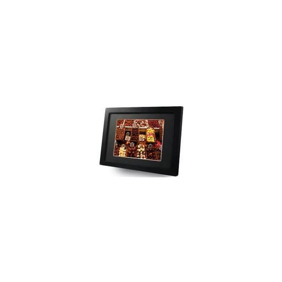 "8"" Digital Picture Frame/ Media Player (Black wood type)"
