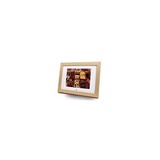 "Imagin 8"" Digital Picture Frame/ Media Player (Light Wood Type)"