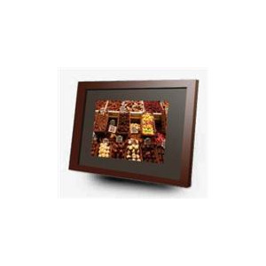 photo of imagin 10 digital frame media player cherry wood digital photo frame