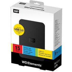 Photo of Western Digital Elements 1.5TB Hard Drive