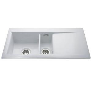 Photo of CDA KC74WH Kitchen Sink