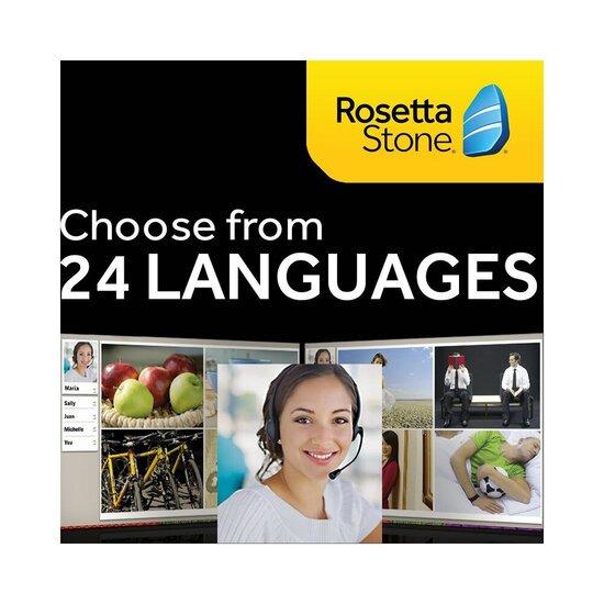 Rosetta Stone 12 Months Online Access Choose Your Language