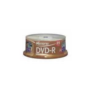 Photo of MEMOREX DVD-R25PK SPINDLE DVD R