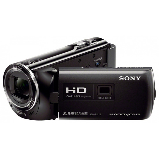 SONY HDR-PJ220EB Full HD Camcorder - Black with Professional Class 10 SDHC Memory Card - 16 GB