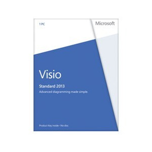 Photo of Microsoft Visio Standard 2013 Licence Card (1 PC) Software