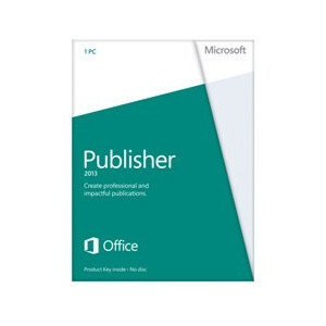 Photo of Microsoft Publisher 2013 Licence Card (1 PC) Software