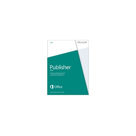 Microsoft Publisher 2013 Licence Card (1 PC)