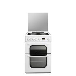 Hotpoint 62DGW Gas Cooker - White