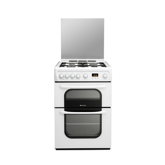 Hotpoint 62DGW Gas Cooker - White