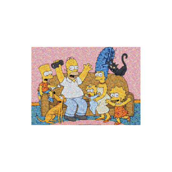 The Simpsons Family Photomosaic Puzzle
