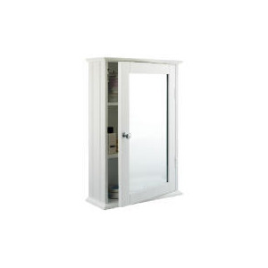 Photo of Southwold White Wood Tongue & Groove 50CM Single Mirror Cabinet Bathroom Fitting