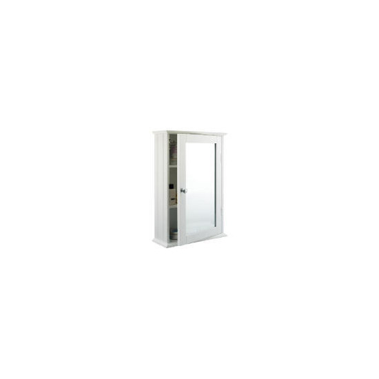 Southwold White Wood Tongue & Groove 50cm Single Mirror Cabinet