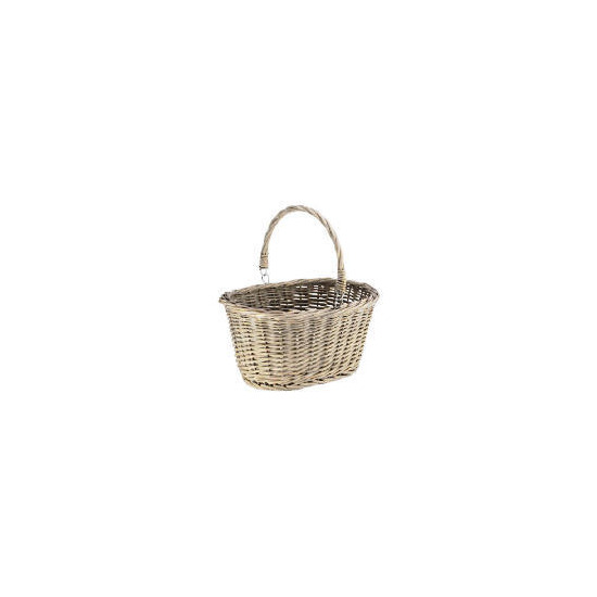 Rustic Chunky Willow Shopping Basket