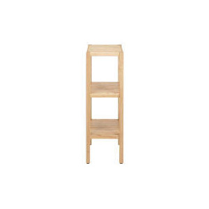 Photo of Hampshire Oak Floor Standing 3 Tier Shelving Unit Household Storage