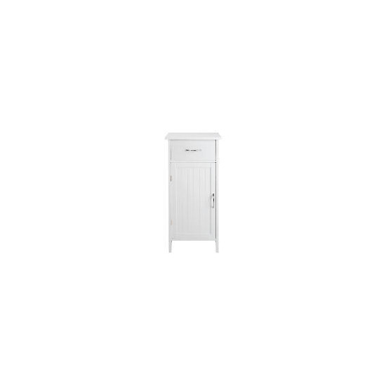 Southwold White Wood Tongue & Groove Single Door & Drawer Unit