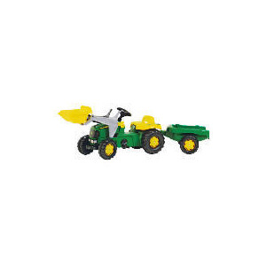 Photo of John Deere Pedal Tractor With Trailer & Scoop Toy