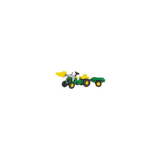 John Deere Pedal Tractor with Trailer & Scoop