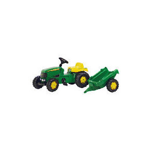 Photo of John Deere Pedal Tractor With Trailer Toy
