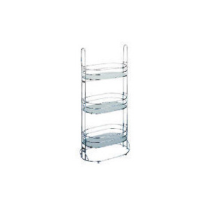 Photo of Lincoln Oval Frosted Caddy With Glass 3 Shelves Bathroom Fitting