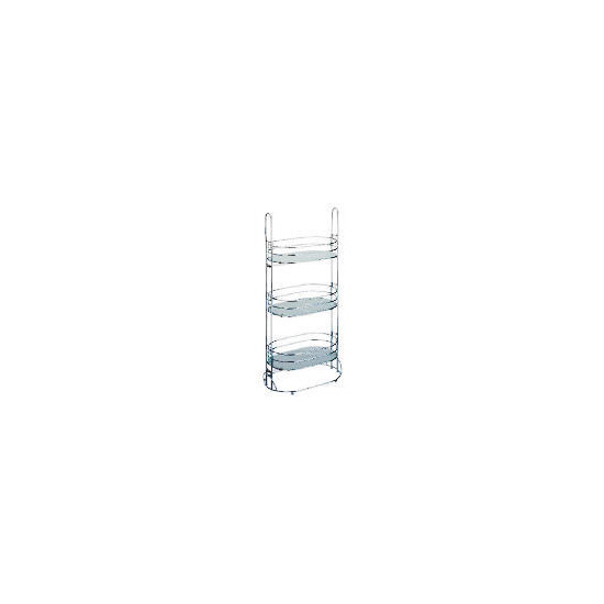 Lincoln Oval Frosted Caddy With Glass 3 Shelves