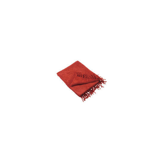 Tesco Chenille Throw, Berry