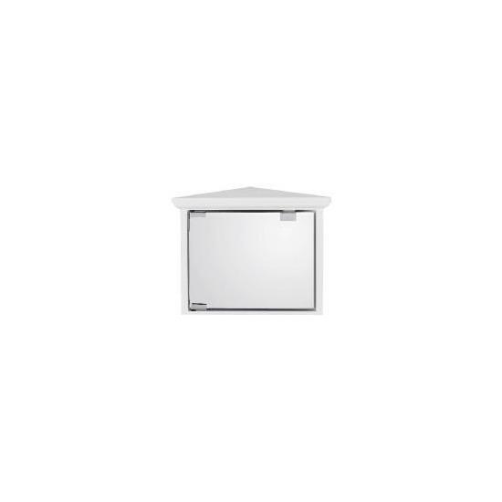 White Small Corner Cabinet