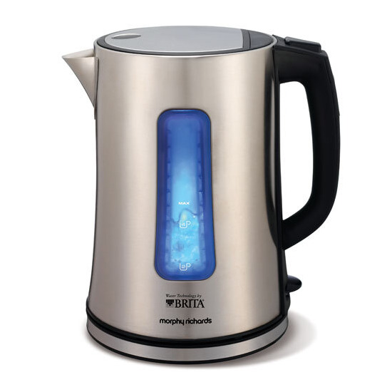 BRITA Accents Filter Brushed Stainless Steel Kettle