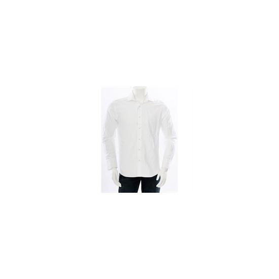 Paul Costelloe Self Stripe Shirt White