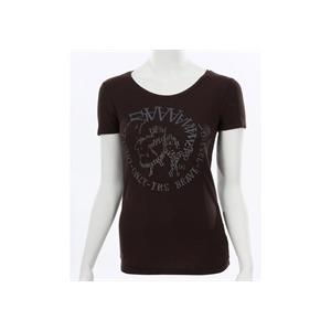 Photo of Diesel Black Glitter Logo T-Shirt T Shirts Woman
