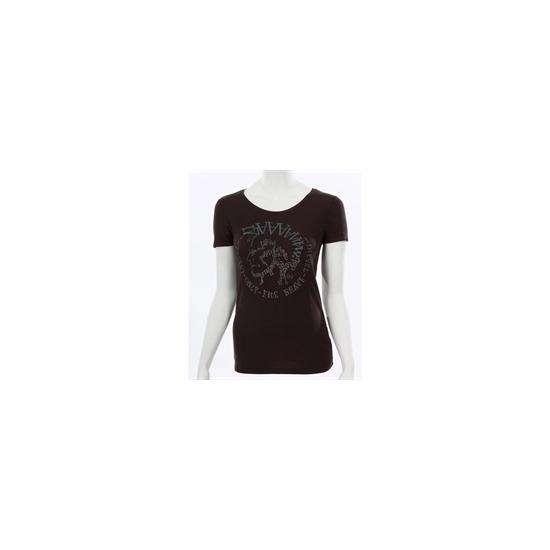 Diesel Black Glitter Logo T-Shirt