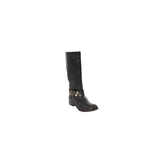 Diesel Black Knee High Biker Boot