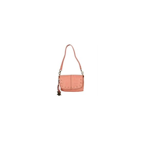Oriano Lenox Leather X Body Bag Pink
