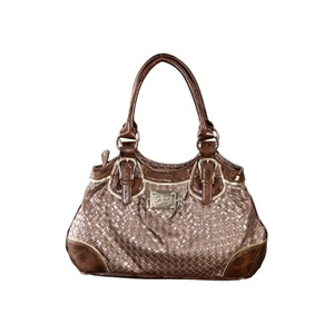 Photo of Gionni Aurora Double Handle Bag Brown Handbag
